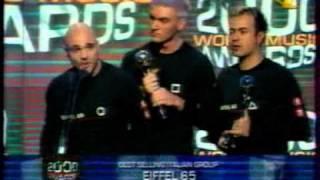Eiffel 65 ''Win World Music Award (World Best Selling Italian Group 2000) In Monte Carlo, Monaco''