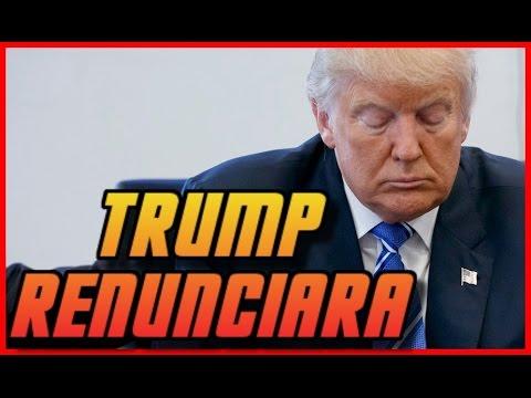 Ultimo minuto EEUU: Donald Trump pronto renunciará a su cargo