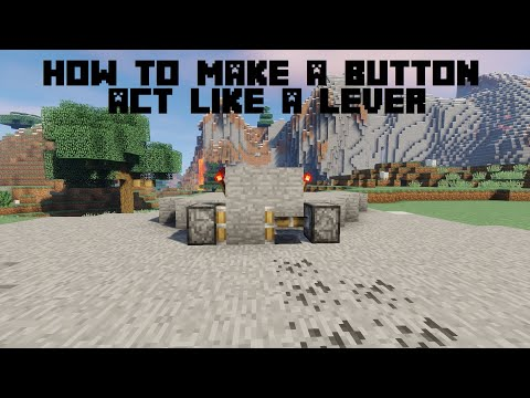how to make a button act like a lever