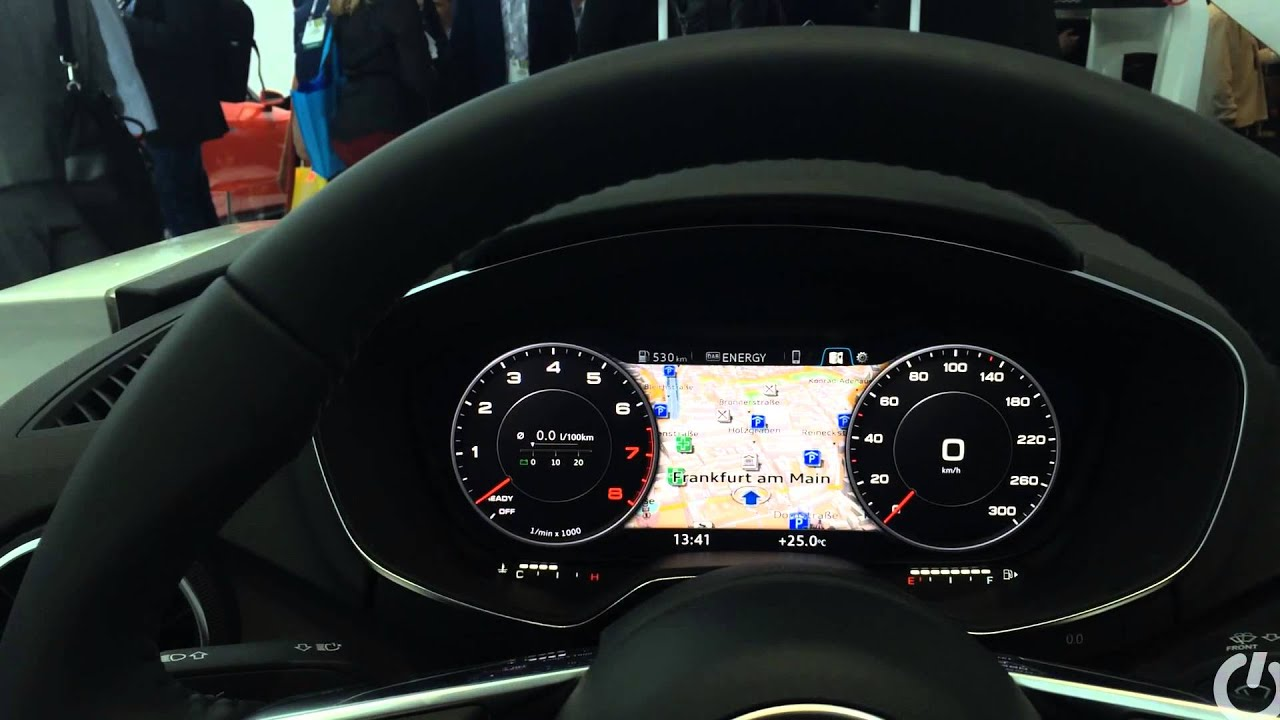 Audi Tt Virtual Cockpit Digital Dashboard And Laser
