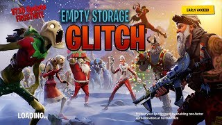*GLITCH* (FROSTNITE)  SAVE THE WORLD Empty Storage GLITCH | FORTNITE | INDIAN GAMER