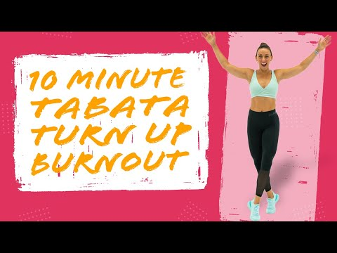 10 Minute TABATA CARDIO TURN UP Workout! NO EQUIPMENT NEEDED! | Sydney Cummings