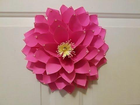Origami Dahlia | DIY Paper Dahlia Room Decor Easy Idea / Dahlia Flower /Giant Flower