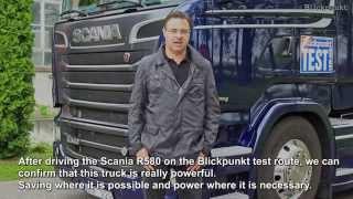 Scania R580 V8 Euro 6 Test