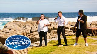 """Gruppe 4: Ramon, Francesco, Raphael mit """"We are the World"""" von U.S.A. For Africa 