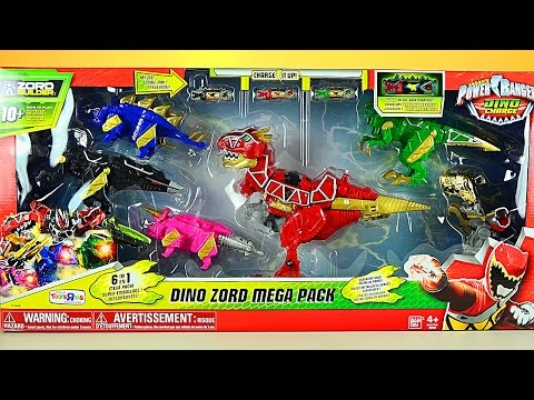 Power Rangers Dino Charge Dino Zord Mega Pack Review!