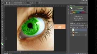 fotoshop Cs6 mudar cor do olho