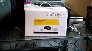 Startech 4 Bay Hard Drive Dock Unboxing