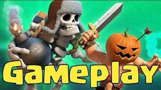 🔸Clash of Clans - Giant Skeleton💀 & Pumpkin Barbarians 🎃 REAL GAMEPLAY 🔸