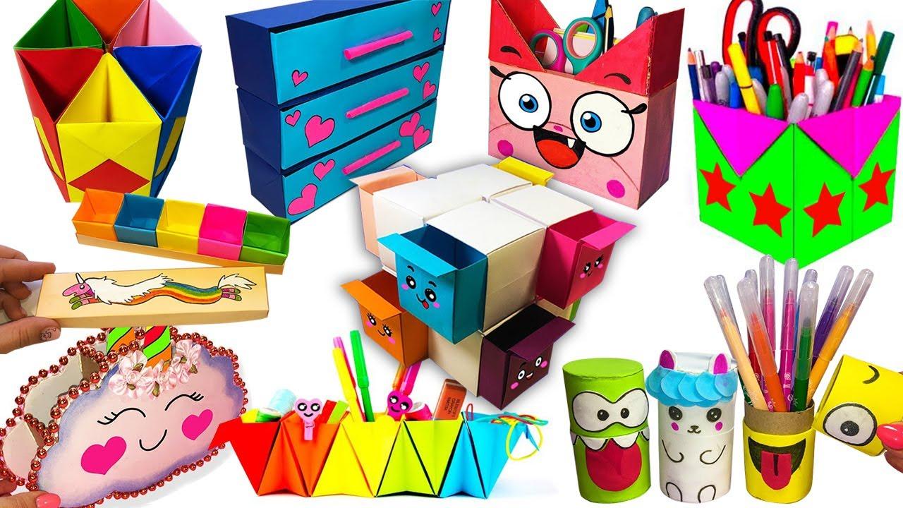 10 DIY ORGANIZERS IDEAS   Back To School Crafts   10 Идей ОРГАНАЙЗЕРОВ Своими руками