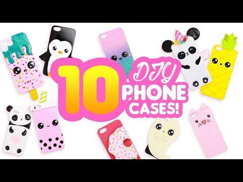 10 PHONE CASE DIY's! - 10 DIY Compilation - Cute Phone Case DIY Clay videos!