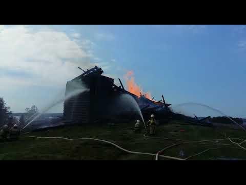 Пожар в Успенской церкви в Кондопоги