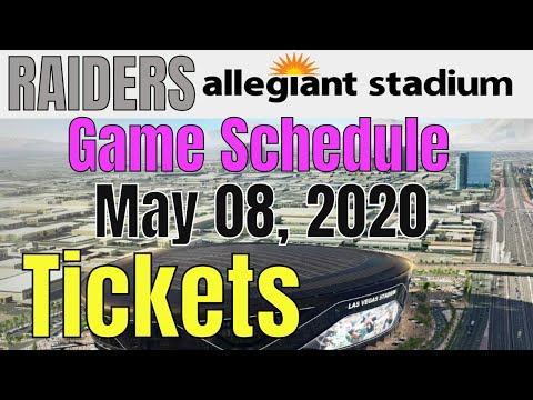 Las Vegas Raiders Allegiant Stadium Season Tickets Update 05 08 2020