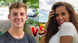 MattyBRaps - (Beautiful) VS Haschak Sisters - (Text Him Back)