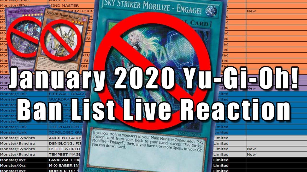 Yugioh banlist 2020
