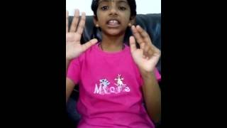 D. Divika (8 yrs old) Is Saying Her 16 Time Table (Vaipadu) In Tamil
