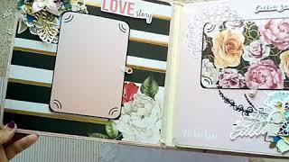 """Свадебный альбом  """"Вместе навсегда"""". Бумага My love. Скрапбукинг. Разме 25*25 вмещает около 50 фото."""