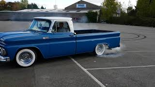 1965 Chevy c10 Burnout!