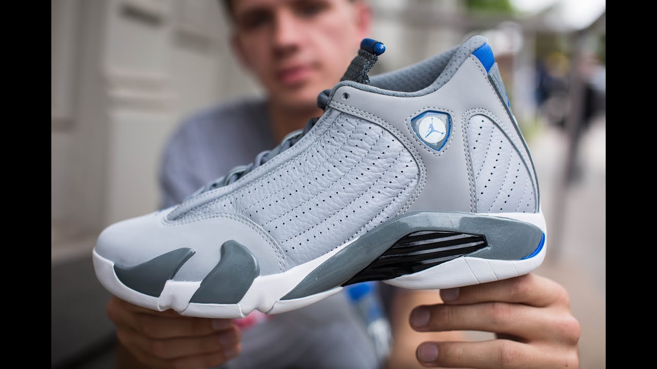 Air Jordan 14 Wolf Grey And Blue