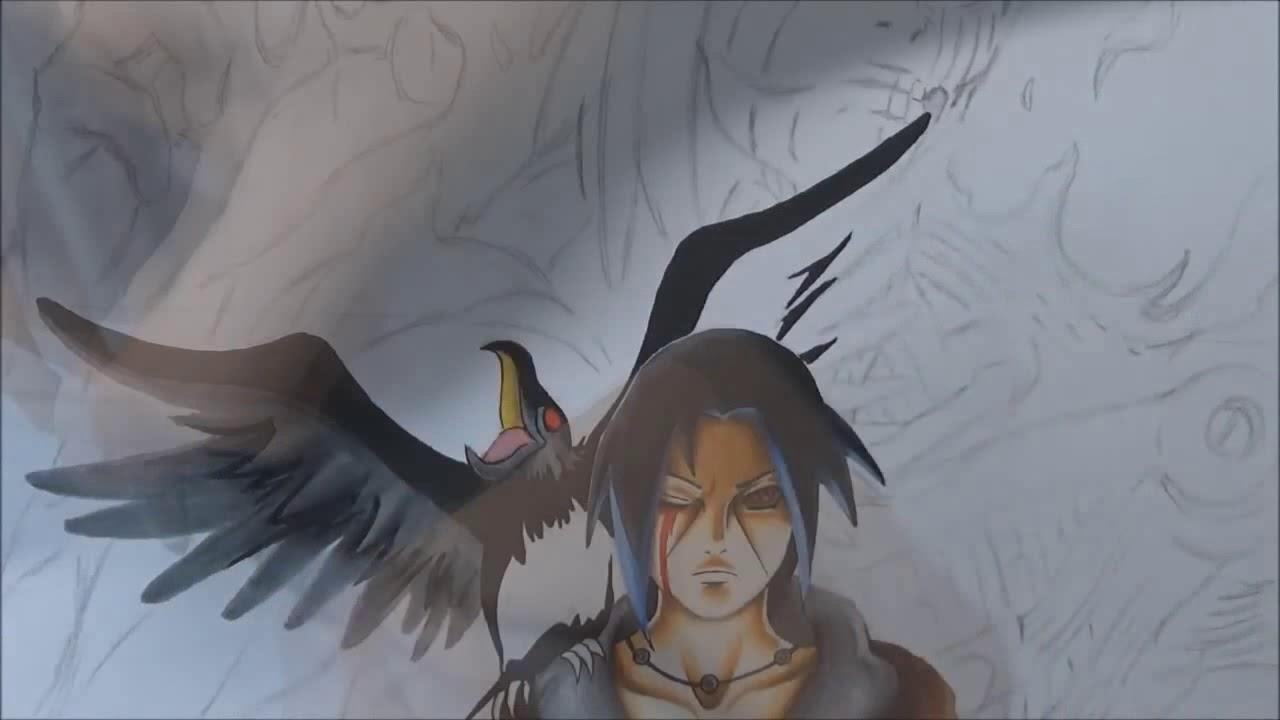 Desenhando Itachi Susanoo Naruto Shippuden Youtube