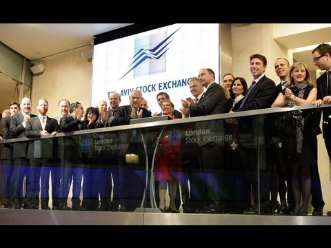 Tel Aviv Stock Exchange Opening Bell In london Stock Exchange - 12.06.2013