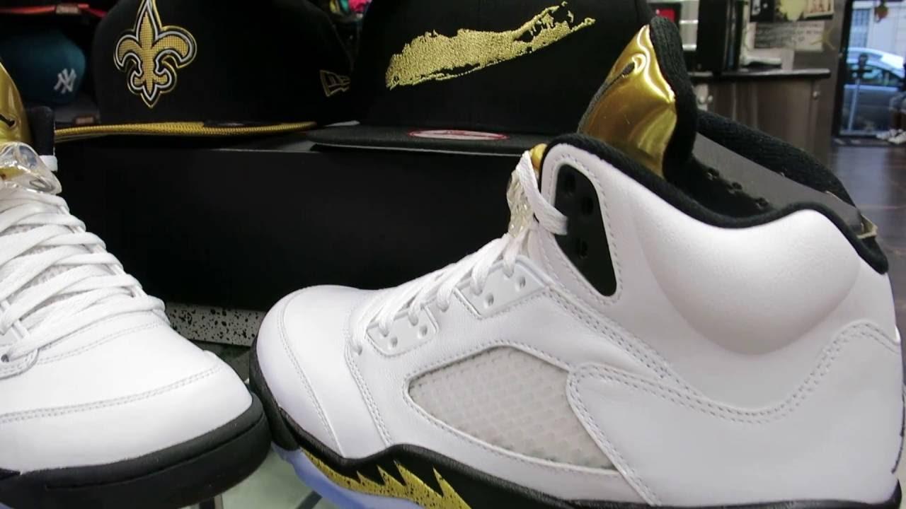 Nike Air Jordan Retro 5 Gold Coin, at Street Gear - Hempstead NY