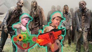 Nerf Battle Kids vs Zombies (Skit)