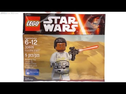 LEGO Star Wars Finn FN-2187 TFA game polybag review! 30605