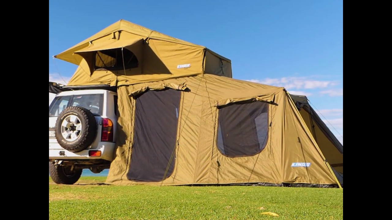 Adventure Kings Roof Top Tent check out the roof top tent and 6 man annnex from adventure kings!