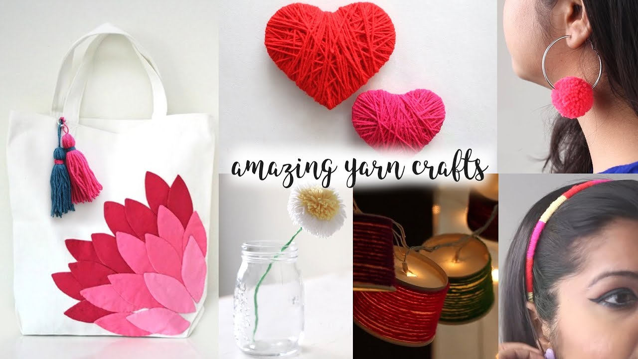 6 Truly Fascinating Ideas With Yarn Diy Activities Yarn Craft