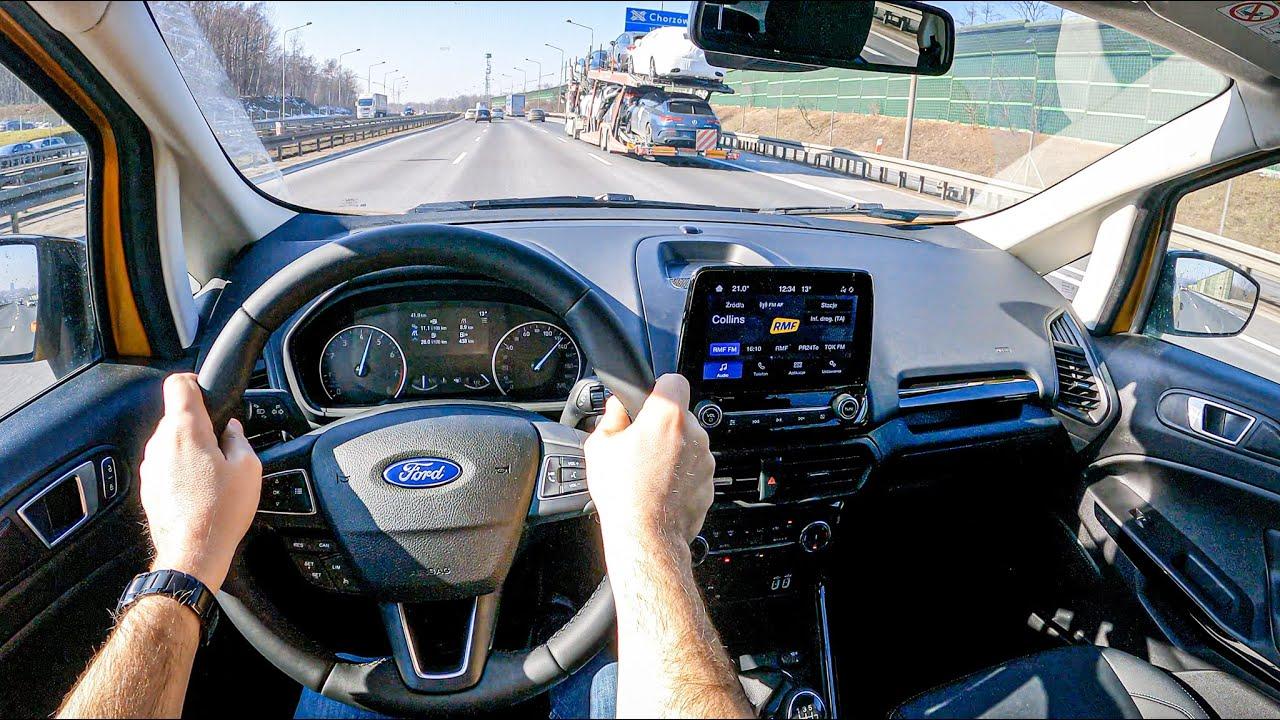 NEW Ford Ecosport II Active 2021(1.0 125HP)   POV Test Drive #689 Joe Black