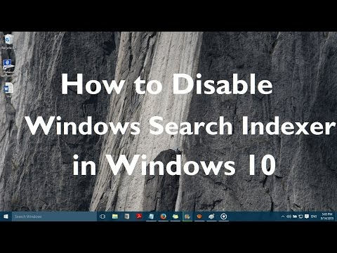 How to disable Windows Search Indexer in Windows 10