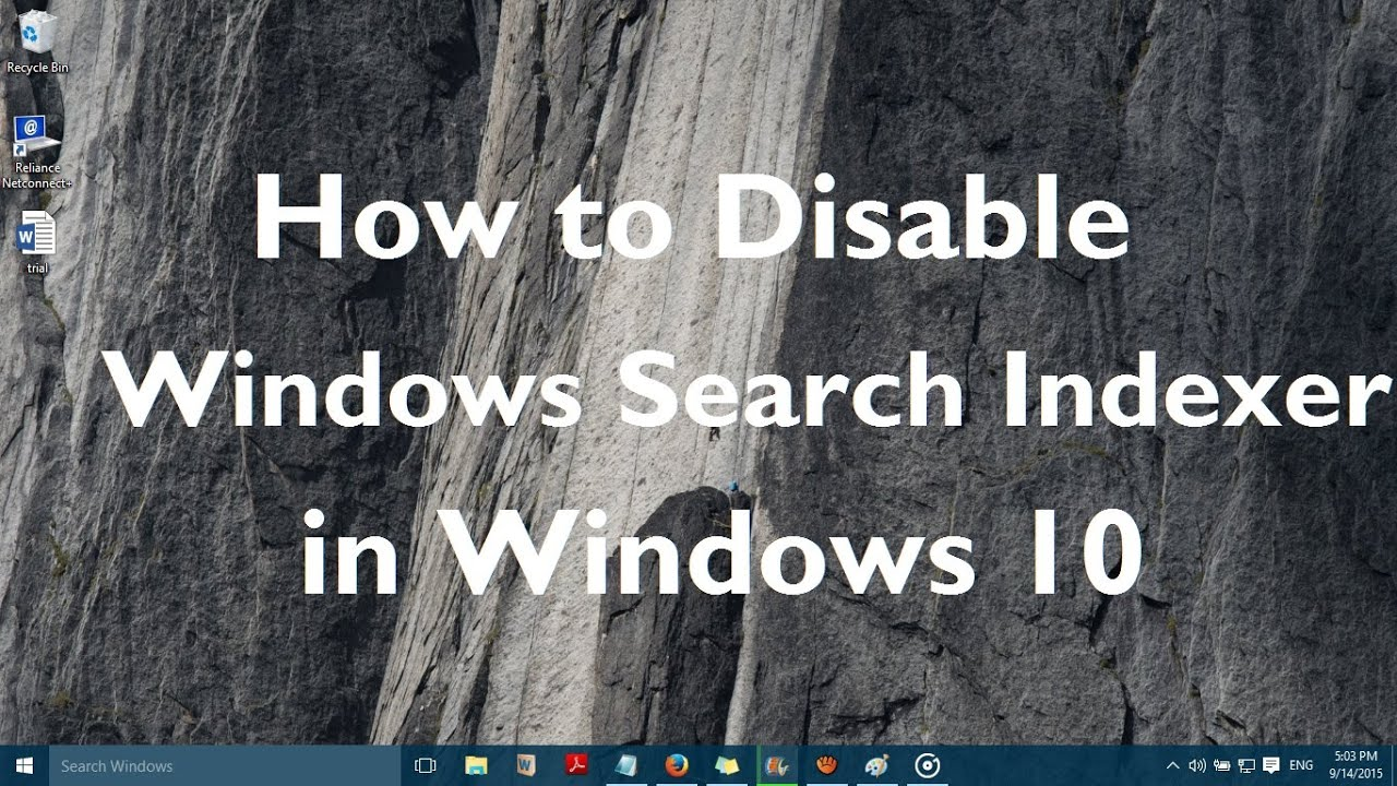 Index of images article windows 10 enable or disable windows update - How To Disable Windows Search Indexer In Windows 10