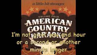 Little Bit Stronger - Karaoke in the style of Sara Evans