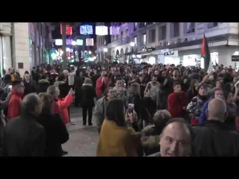 Tensión en la Manifestación Antifascista de Granada