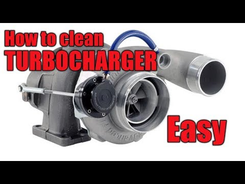 The best  way to clean TURBOCHARGER!!!
