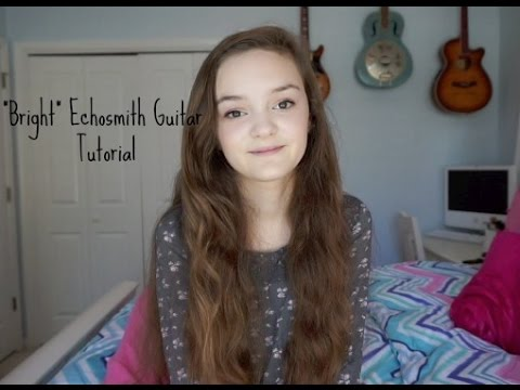 How To Play Bright By Echosmith Easy Beginner Guitar Song Funnycat Tv