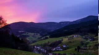 77 Time Lapse Sunrise Sky Black Forest Mountains Nature | Zeitraffer Schwarzwald Sonnenaufgang 4K