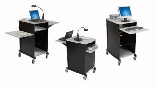 Xtra-wide Audio Visual Presentation Cart