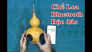 Loa Bluetooth Tự Chế   Làm loa bluetooth từ trái bầu   Unique bluetooth speakers DIY