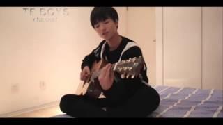 TFboys   Vương Tuấn Khải chơi đàn guitar hát Bong bóng tỏ tình
