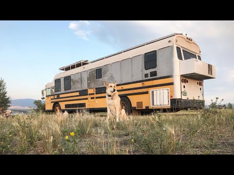 A Day In The Life In My School Bus Conversion - Finding Free Camping