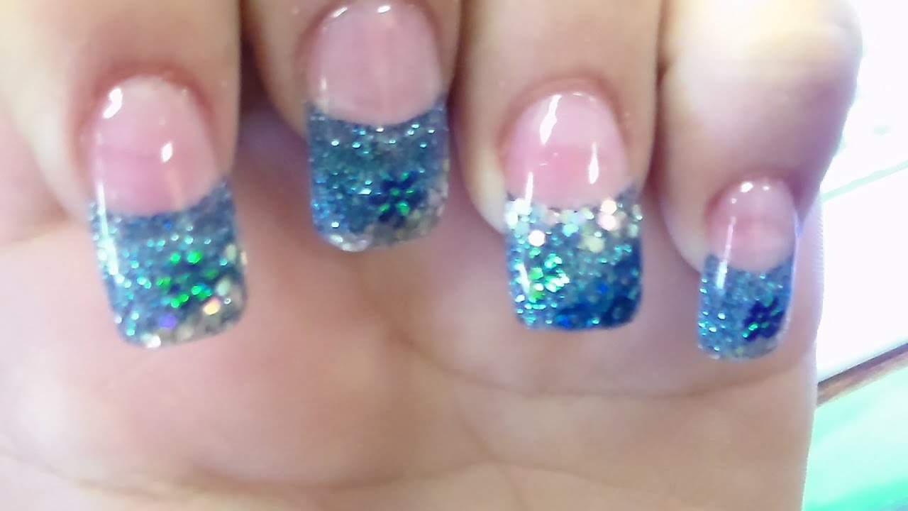 Glitter solar gel nail art designs youtube prinsesfo Choice Image