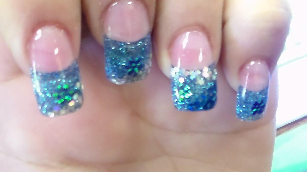 Glitter Solar Gel Nail Art Designs - YouTube