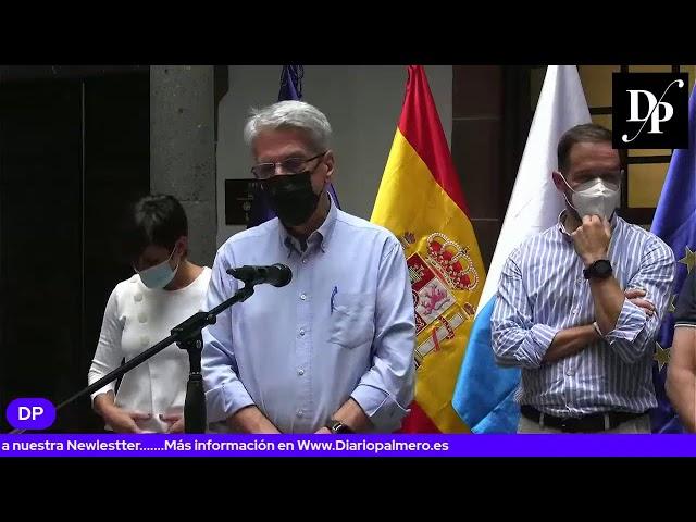 Rueda de prensa del presidente del Cabildo y la ministra de Política Territorial Isabel Rodríguez.
