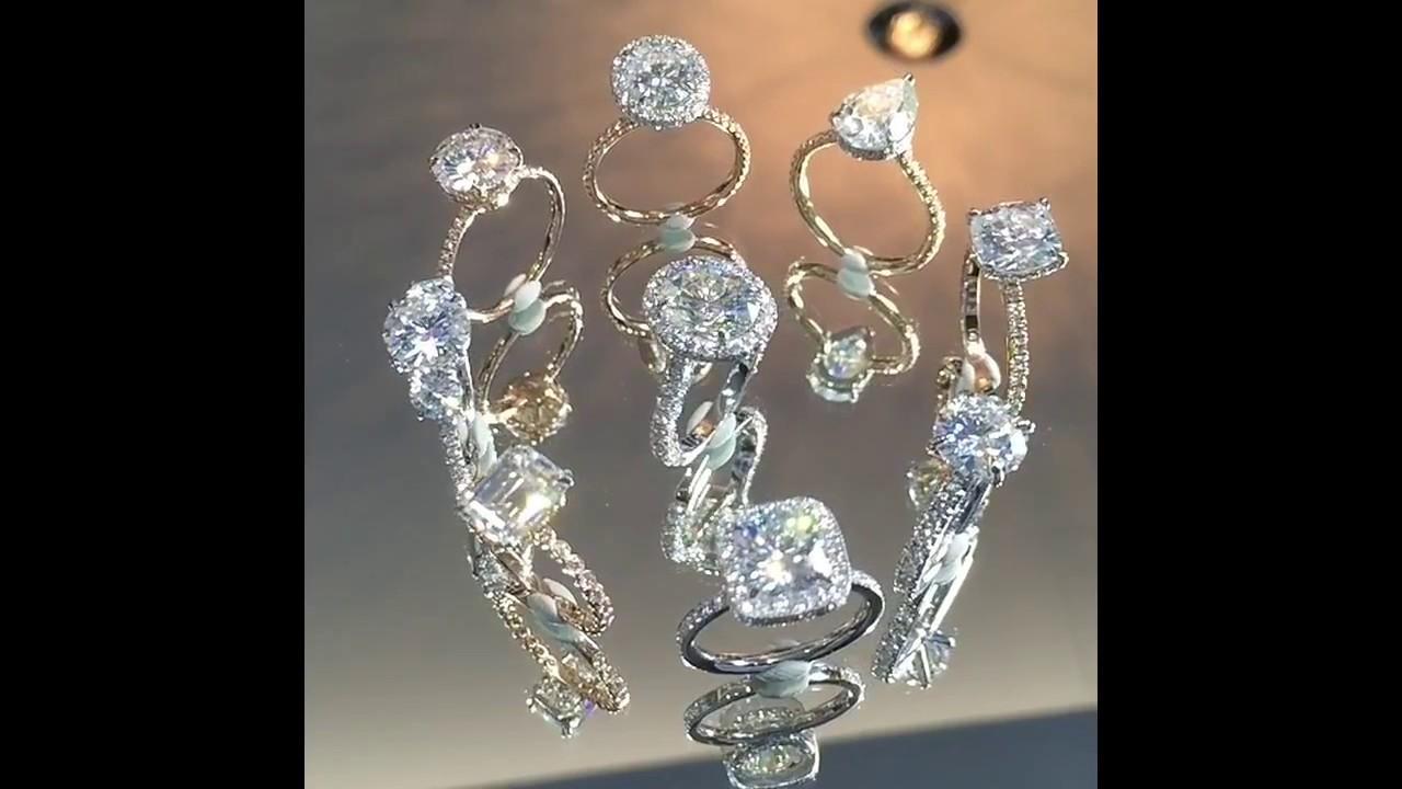 Lauren B Moissanite Collection Engagement Rings