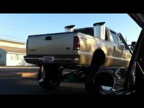 Worlds Biggest Exhaust Stacks 24 inches -Ford F350 Diesel