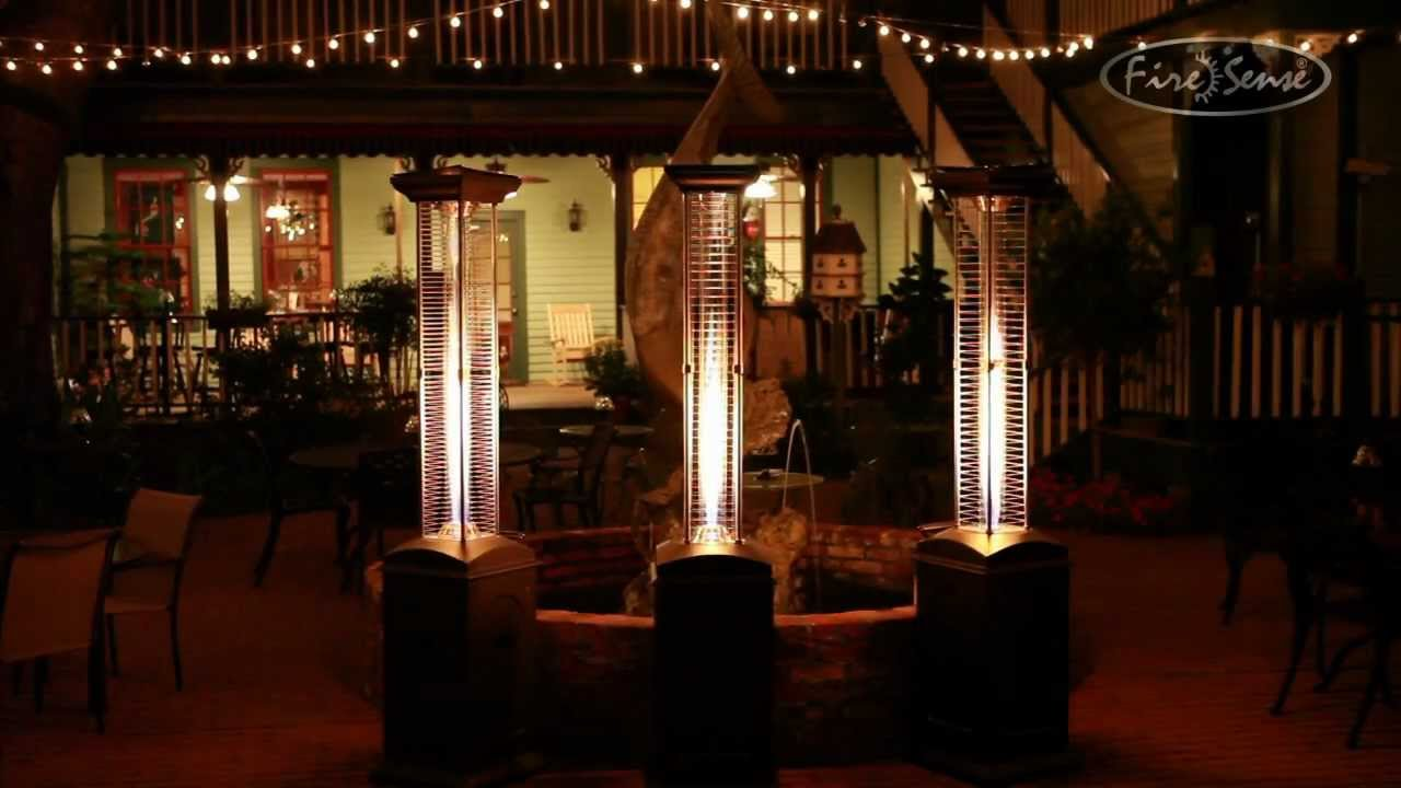 Beau Mocha Flame Patio Heater   41,000 BTUS   YouTube
