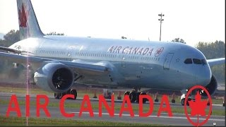 Air Canada 787-9 (B789) Dreamliner taxiing & departing YUL on 24L