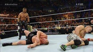 [WWE EXTREME ] John Cena VS Seth Rollins VS Brock Lesnar - Triple Match Championship
